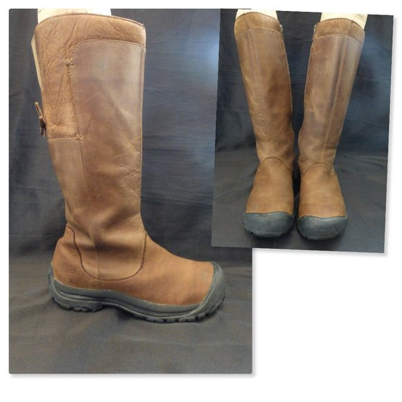 KEEN Tall Leather Zip Bow in Back Boots